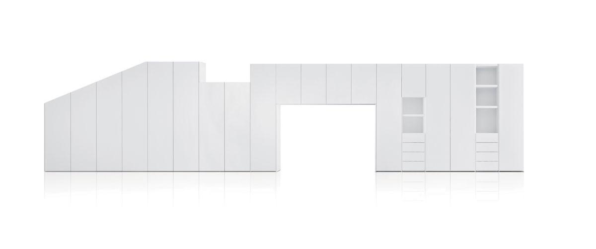 éléments spéciaux, Garde-robe personnalisée modulaire pour chambre