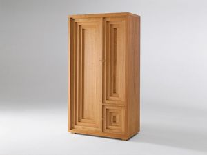 Josef Hoffmann wardrobe, Cabinet en bois naturel de cerise, trois portes, la conception viennoise