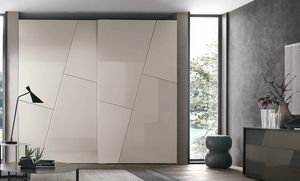 Kross, Armoire avec portes � d�cor g�om�trique