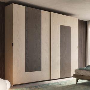 Nova NOVA1317T, Armoire à portes coulissantes en bois de frêne