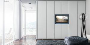 PRESA armoire, Armoire en m�lamin� avec panneau TV