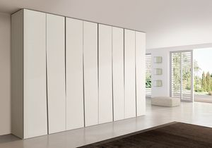 SIPARIO comp.02, Armoire contemporaine pour les chambres, mince et compact