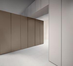 SIPARIO comp.03, Armoire mince avec portes battantes, dans le style essentiel
