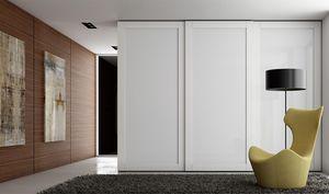 TELAIO, Armoire avec portes en verre peint