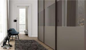 TRIS, Armoire � portes coulissantes, verre peint