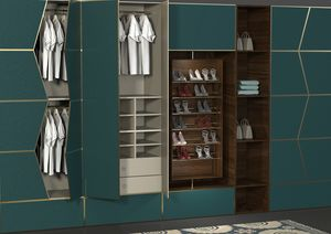 Zenit chambre, Système modulaire de murs équipés pour chambre