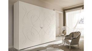 Arezzo armoire, Armoire murale avec motifs curvilignes sur 2 ports