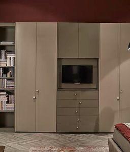 Flor, Armoire avec compartiment TV qui s'ouvre
