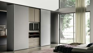 NARCISO, Armoire avec meuble TV ouvrable
