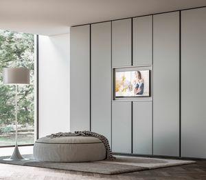 PRESA, Armoire avec meuble TV ouvrant