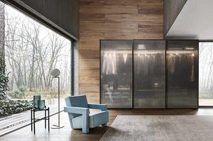 Scrigno, Armoire � portes coulissantes en verre fum�