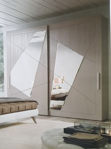 Timetwo, Armoire à portes coulissantes en miroir
