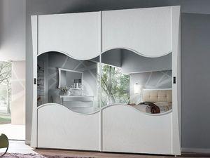 Vela Armoire, Armoire en frêne brossé, avec portes coulissantes
