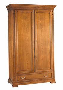 Villa Borghese armoire 7377, Armoire traditionnelle en bois à deux portes