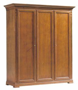 Villa Borghese armoire 7379, Armoire en bois à trois portes style Directoire