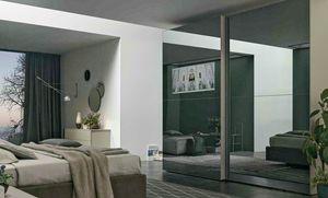 Vision, Armoire coulissante avec portes en miroir