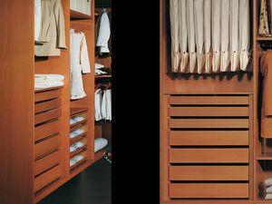 Equipements Internes 12, Garde-robe moderne avec des accessoires, pour les chambres
