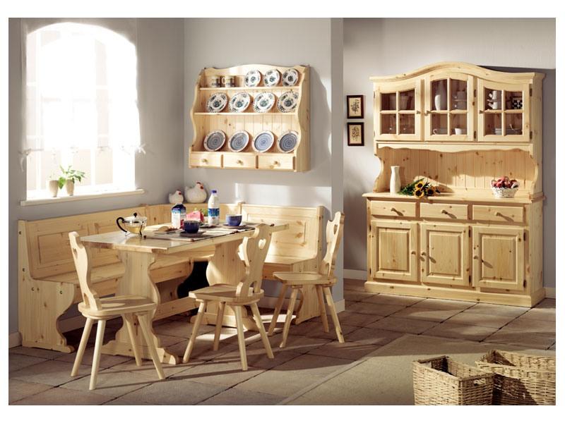 Collection Giorno 2, Table de Banc en bois de sapin, dans un style rustique