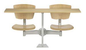 DIDAKTA SLIM D10, Table mobile avec 2 chaises, l'école et la cantine