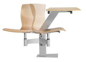 DIDAKTA SQUARE, Chaise pivotante à base métallique mobile, pour les cantines
