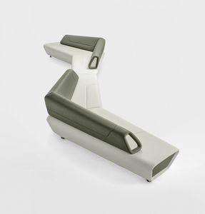 Kaleido, Système de sièges modulaires, rembourré, pour les zones d'attente