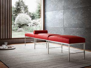 Paesaggio, Banc contemporain pour salle d'attente, essentiel, base en métal