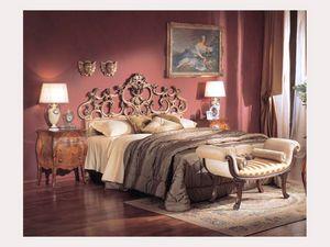 3245 BENCH, Banc rembourré avec des rouleaux, le style de luxe classique