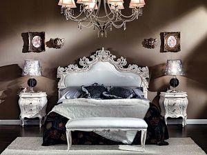 3445 BANC, Banc rembourré recouvert de faux cuir, des hôtels de luxe