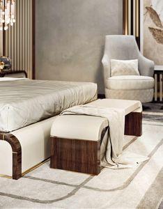 ART. 3371, Banc de chambre à coucher avec assise en cuir