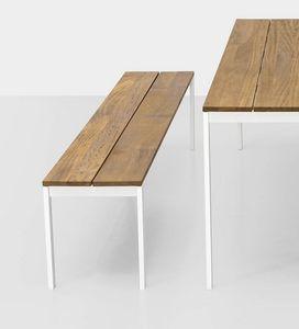 Be-Easy slatted bench, Banc d'extérieur avec lattes en bois de teck