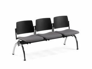 TEOREMA, Banc avec siège rembourré, pour les salles d'attente