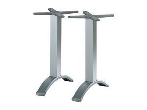 2 ped base cod. BG2J, Pied de table en aluminium à double colonne