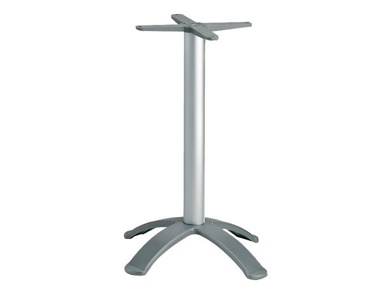 4 ped base h 115 cod. BGA4K, Base pour table de bar, en aluminium anodisé