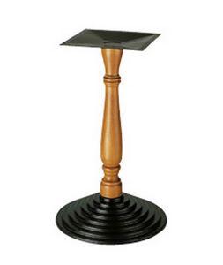 907, Support pour table, colonne usinée en bois, pour les bars