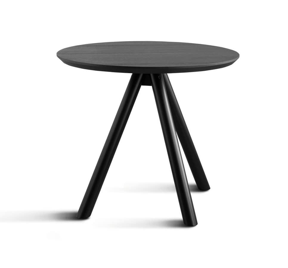 ART. 0098-3 CONTRACT, Base de table en bois, avec trois jambes