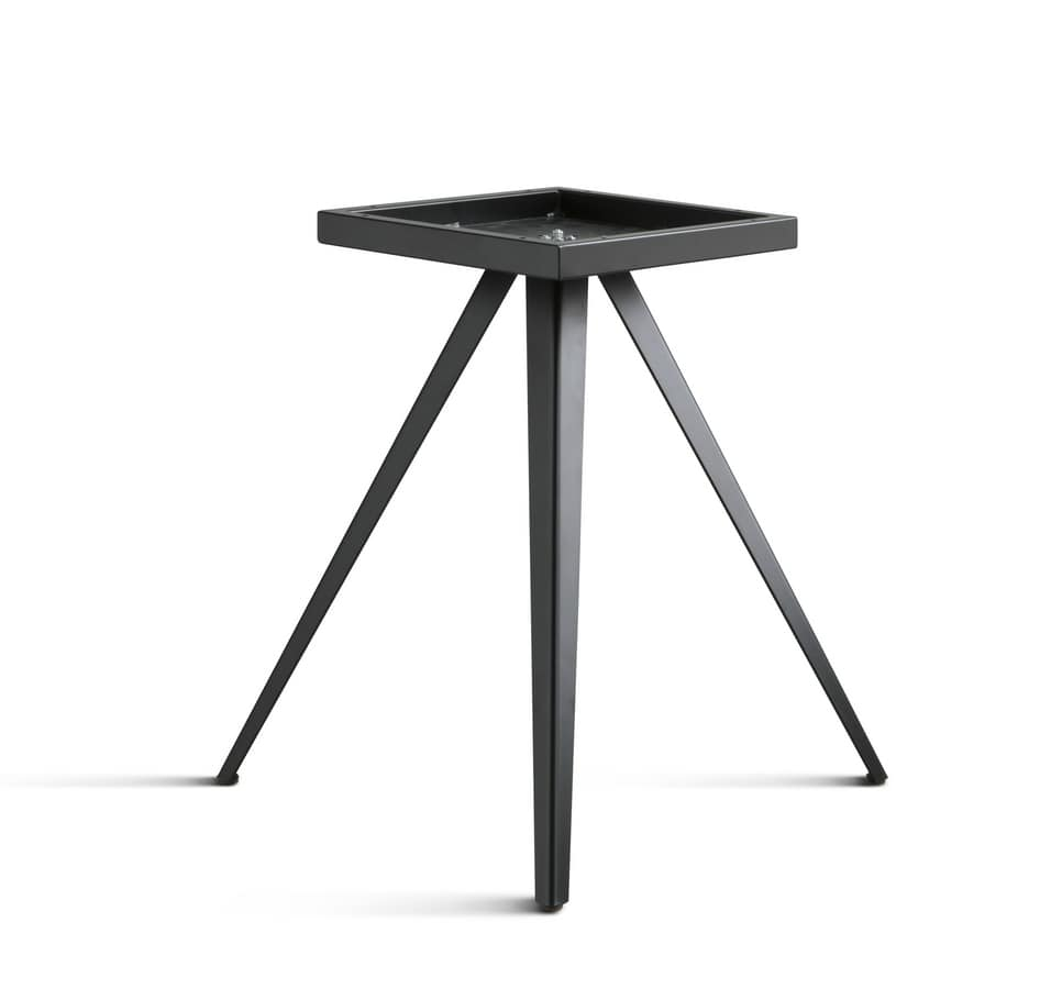 ART. 0099-3 AKY CONTRACT, Base de table design, en métal, avec 3 jambes