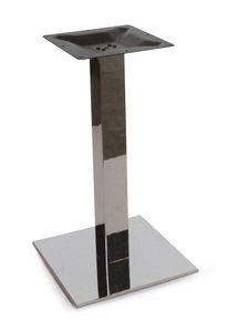 Art. 1037 Kuadra, Base de table en acier inoxydable satiné ou poli