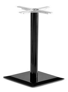 Art.250, Base carrée de la table, avec un tube central en métal, pour le contrat et l'usage domestique