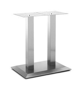 Art.281, Base de table rectangulaire, cadre en acier brossé, pour le contrat et de l'environnement intérieur