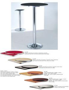 ART. 420, Base en métal chromé ou laqué pour les tables de bar