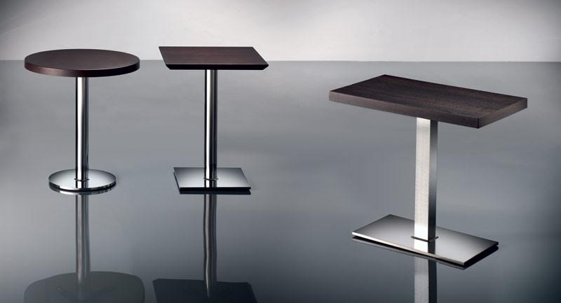 ART. 430, Base en métal chromé, différentes hauteurs, pour le restaurant