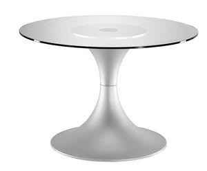 Art.710/AL, Base de la table ronde, cadre en aluminium, à usage domestique et de contrat