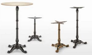 art. Bistrot, Bases de table en fonte