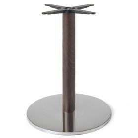Firenze 9213 - 9214, Base de table, base en acier et colonne en hêtre massif, idéal pour les bars