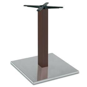 Firenze 9218, Base de table pour les bars, base en acier et colonne en hêtre massif