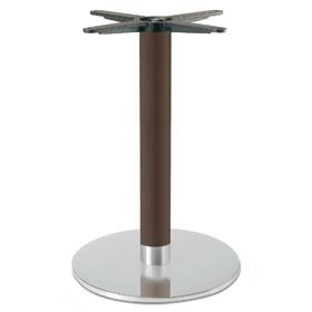 Firenze 9219, Base de table pour les bars, sur la base en acier et de la colonne de hêtre massif