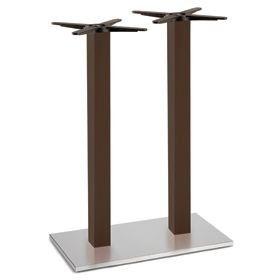 Firenze 9617, Base de table pour les bars, base en acier et colonne en hêtre massif