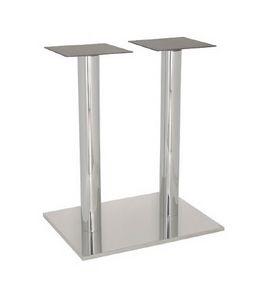 FT 070 Colonne double, Base de table pour les bars et de la crème glacée, acier inoxydable poli