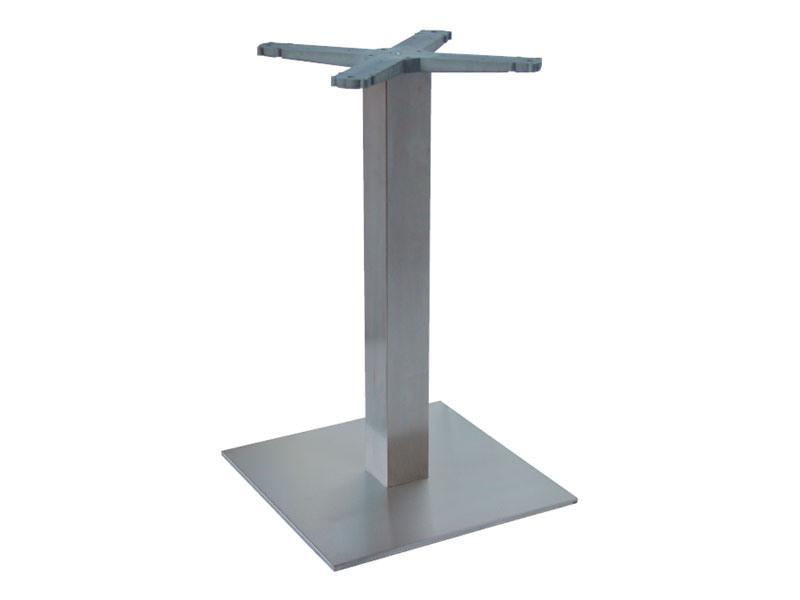 Indoor base cod. I45x45, Inoxydable base de table en acier pour les salons de crème glacée