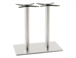 Inox.R 686, Base double pour table de restaurant